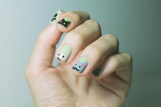 nail-art-pastel-animaux-mignons